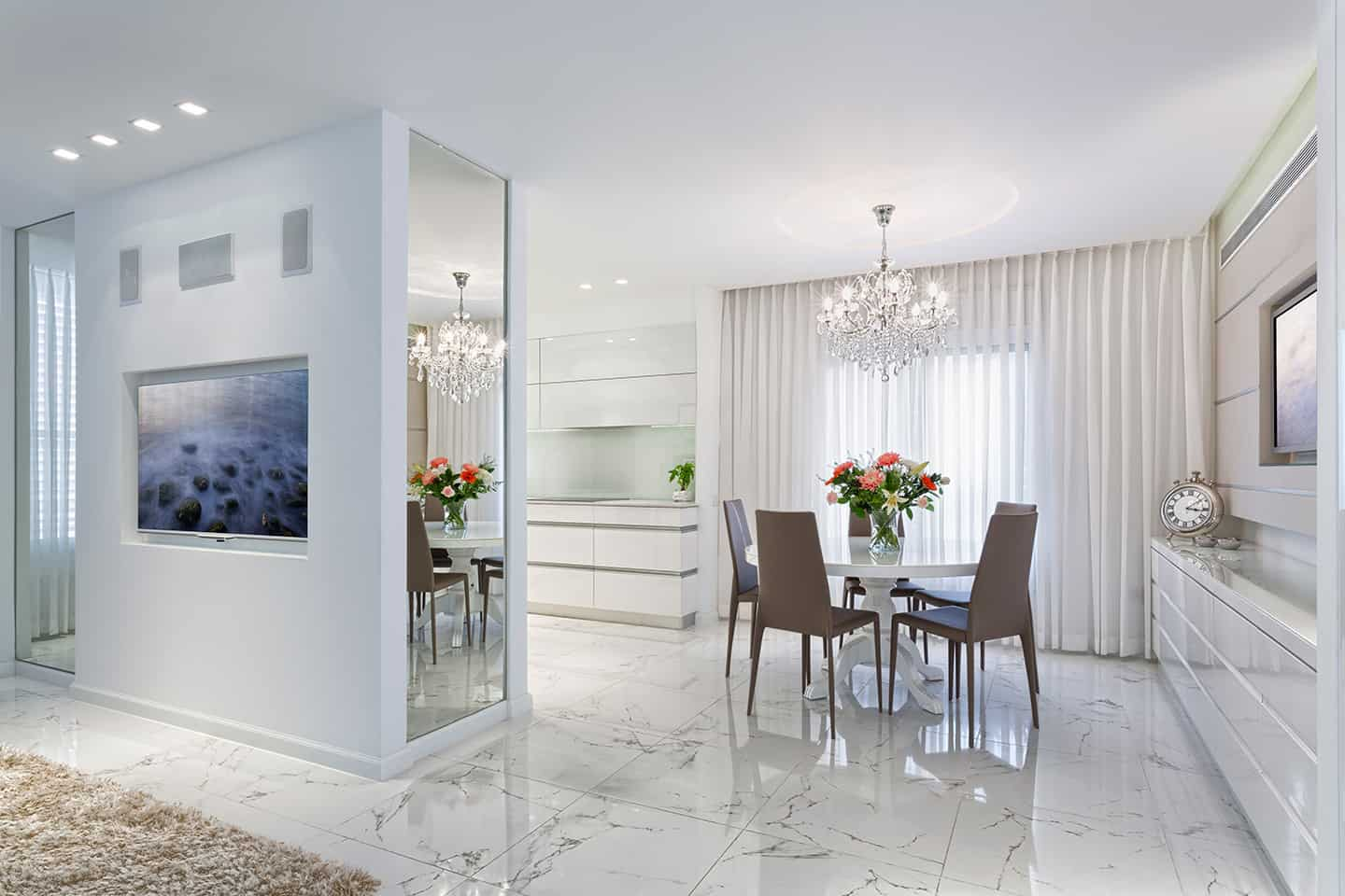 white room with white flooring