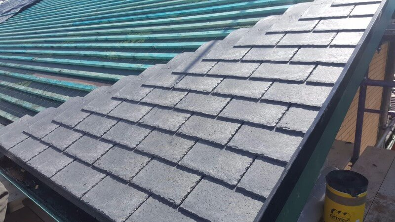 pitched roofing  close up